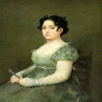 Francisco de Goya (1746-1828)  The Woman with a fan  Oil on canvas  Musée du Louvre, Paris, France